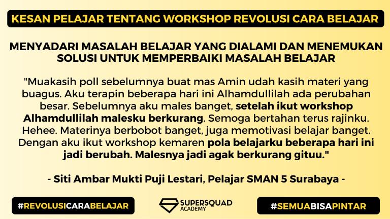Kesan Workshop Revolusi Cara Belajar 1