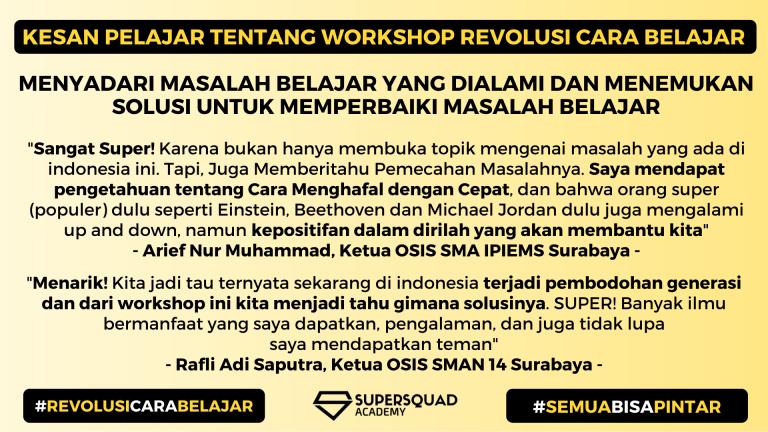Kesan Workshop Revolusi Cara Belajar 2